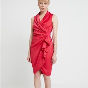 ALLSAINTS cancity drape wrap dress pink NWT